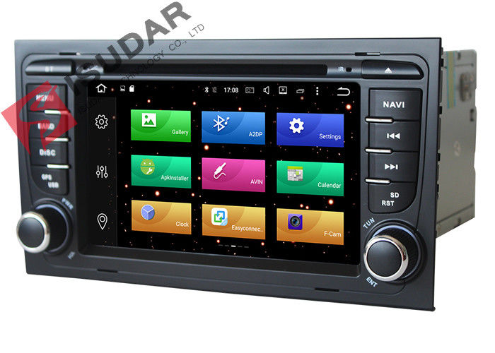 Octa Core 64bit Processor 2 Din Car Dvd Player Audi A4 Head Unit Supports 4K Video