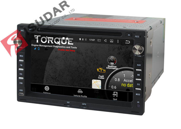 Car Radio GPS Bluetooth VW Car DVD Player With Full RCA Output Screen Mirroring Function