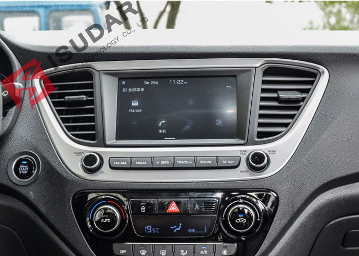 Built In Wifi Pure Android Auto Car Stereo Car Head Unit For Hyundai Solaris Verna 2017