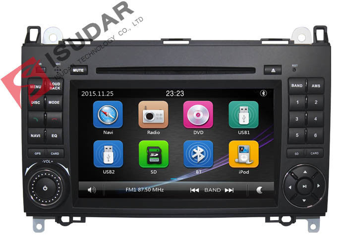 B200 Mercedes Benz Car DVD Player 2 Din Touch Screen Car Stereo With Wince System