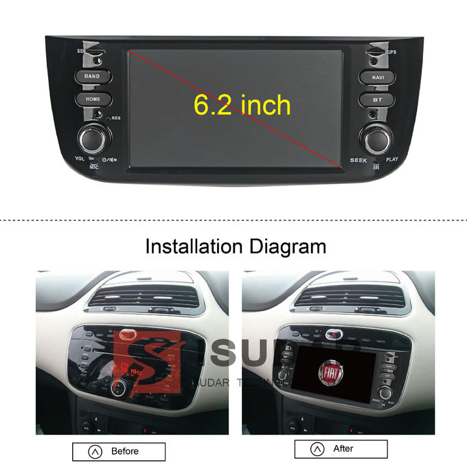 Audio video supporto sistema DVR di spettacolo di Fiat LINEA di multimedia a 6,2 pollici dell'automobile